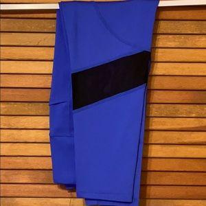 LuLaRoe M Rise Blue Fearless fitness leggings